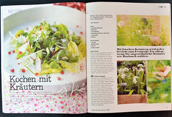 Zeitschrift Frisch auf den Tisch