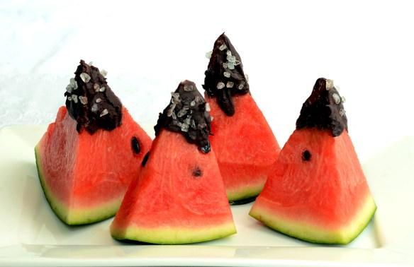 Melone mit Schokolade
