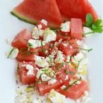 Melonensalat mit Schafskäse