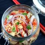 Thailändischer Fastfood-Nudelsalat
