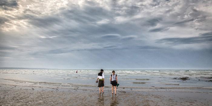 Photographies de Jean-François Le Bescond - Les deux copines du bord de mer