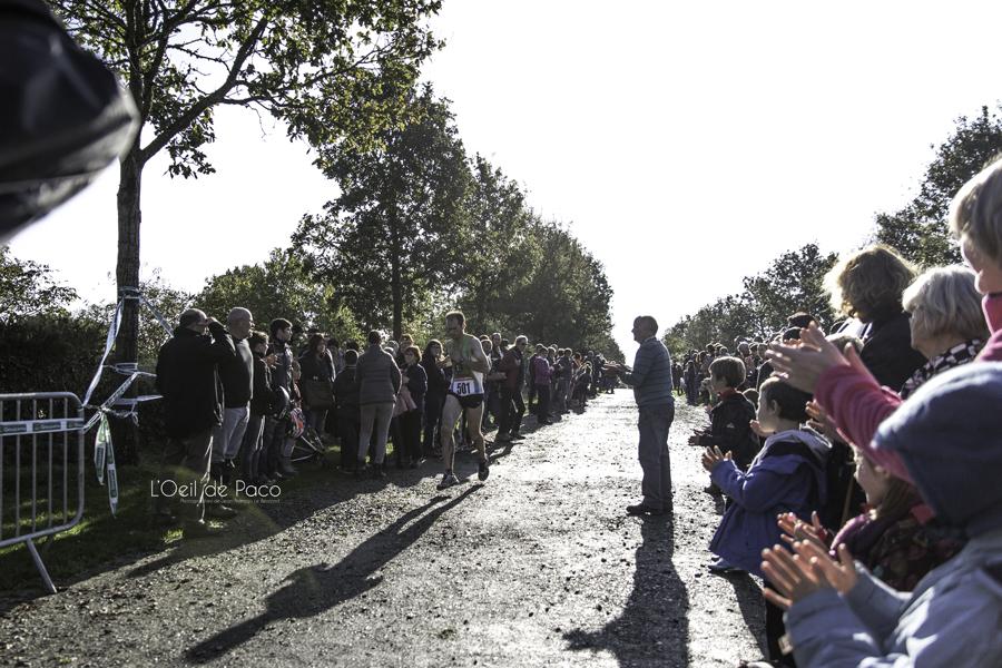 La grande foule à l'arrivée