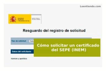 Cómo solicitar un certificado del SEPE INEM