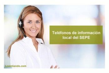 Teléfonos de información local del SEPE