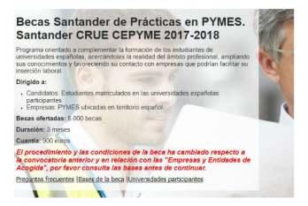 Becas Santander 2018