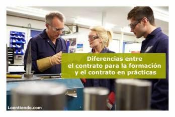 Diferencias entre contrato de formación o contrato en prácticas