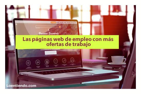 Páginas web con más ofertas de trabajo