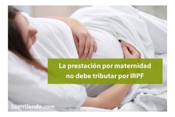 Hacienda devolverá el IRPF de la prestación por maternidad