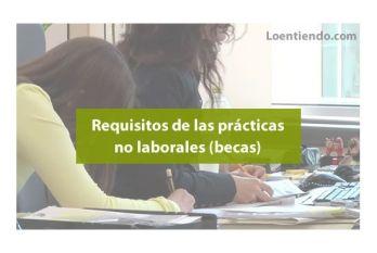 Requisitos de las prácticas no laborales
