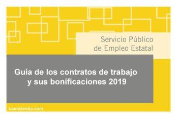 Guía 2019 de los contratos de trabajo y sus bonificaciones