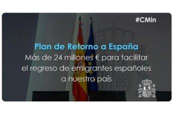 Plan de retorno a España un pais para volver