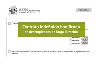 Contrato indefinido desempleados de larga duración