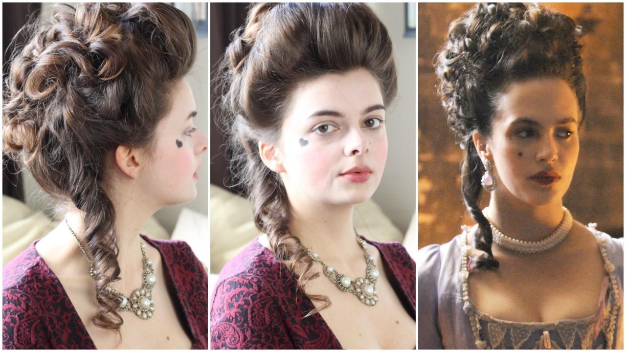 18th Century Hair Tutorial Hulu Harlots Loepsie