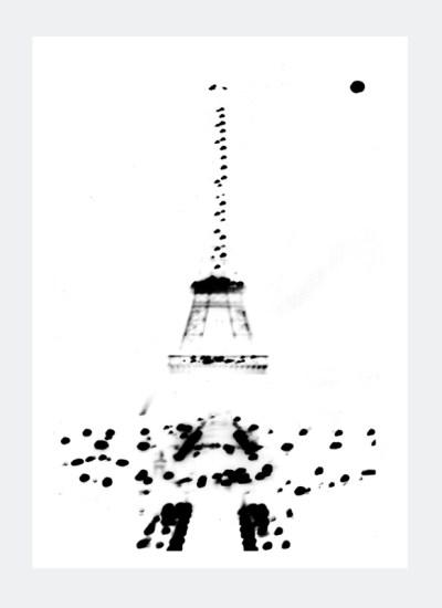 Plakat Paryż Wieża Eifflea