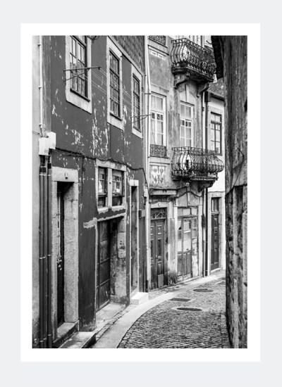 Plakat uliczka w Porto (Portugalia)