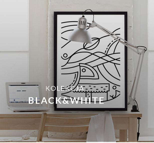 Plakat czarnobiały. Designerski plakat.