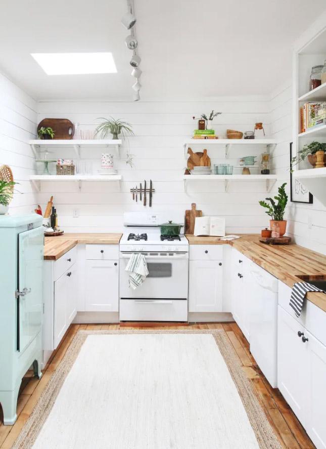 kuchnia skandynawska biała aranżacje białej kuchni