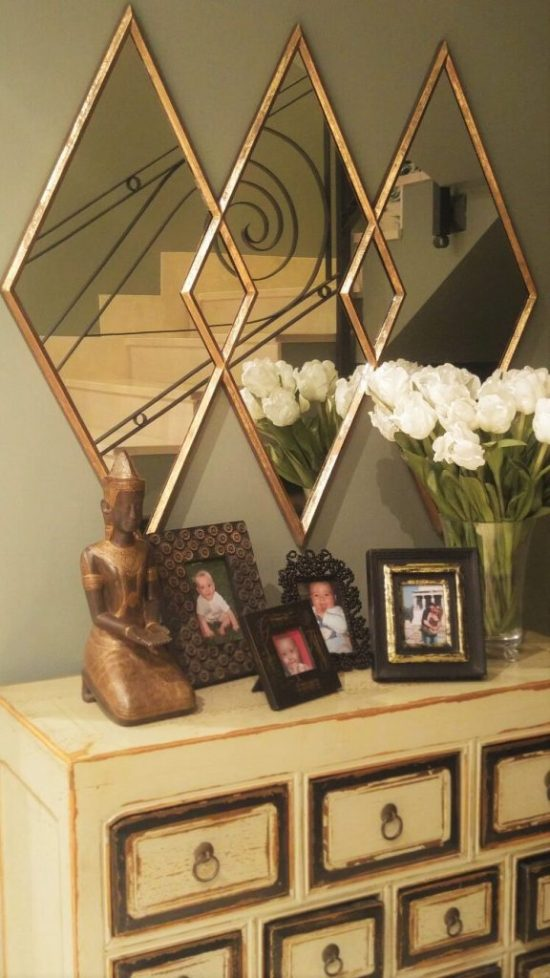 Espejo rombos via Loft & Table