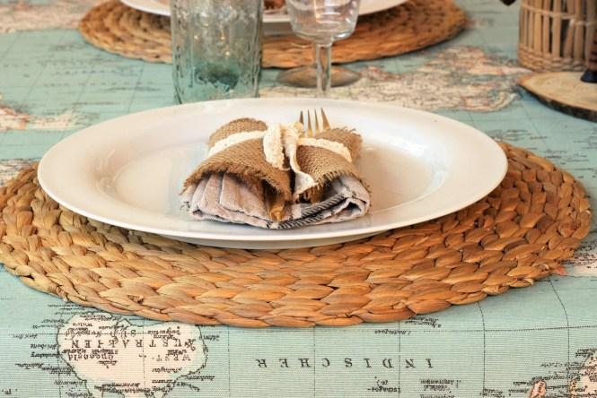 detalle de la mesa viajera loft & Table