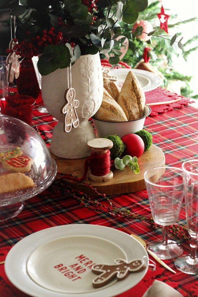 Decoración de la mesa de Navidad By Loft & Table
