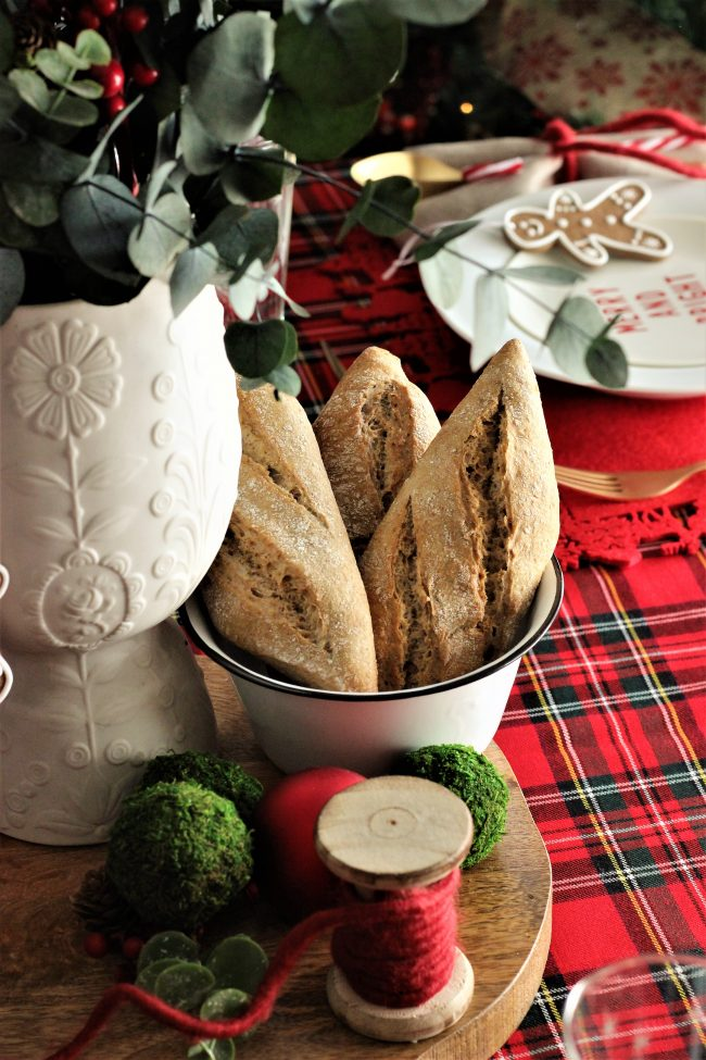 Una mesa con cuadros Tartan: Merry Table