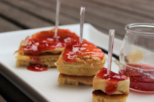 Pancakes en forma de corazón para San Valentín
