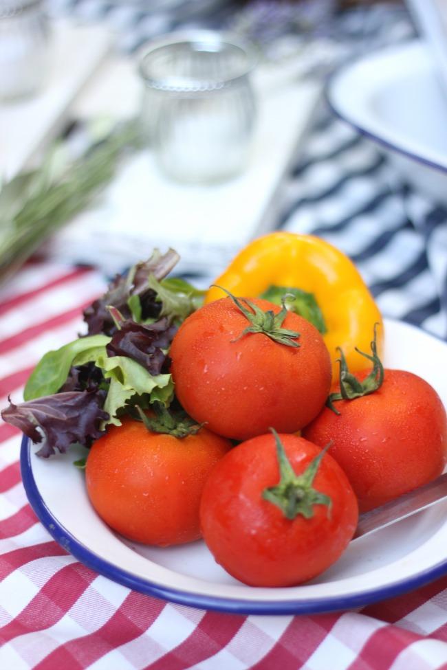 verduras ricas para tu picnic