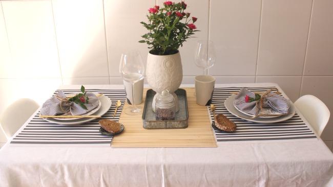 una mesa así de bonita, para dos