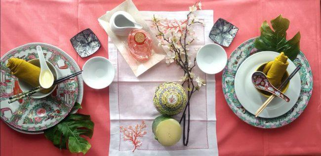 Detalles para decorar una mesa oriental