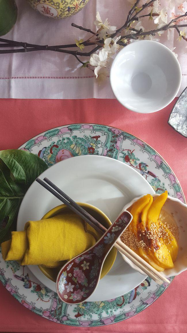 Ensalada de mango y piña