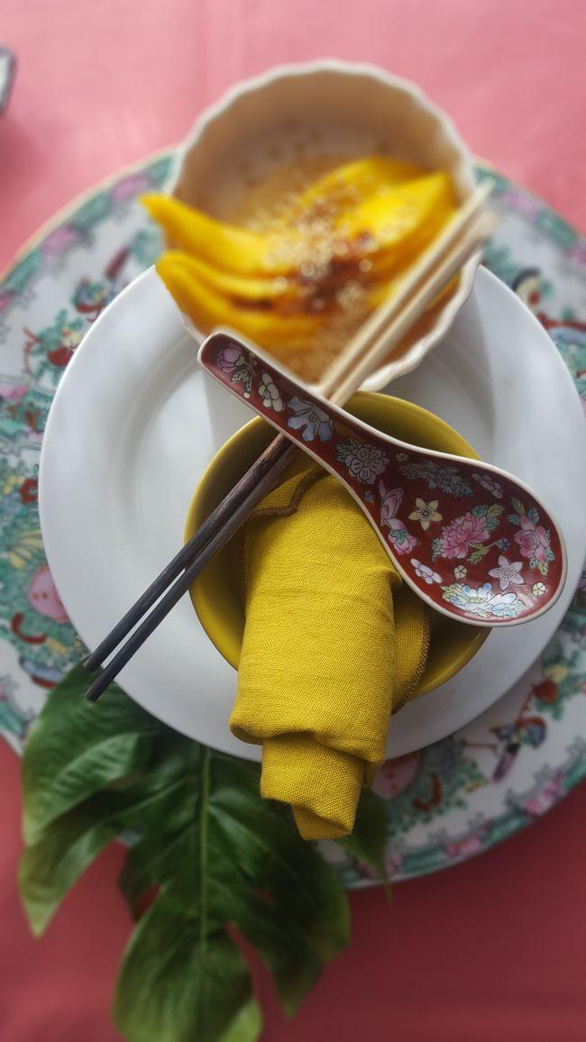 Ensalada dulce de mango y piña