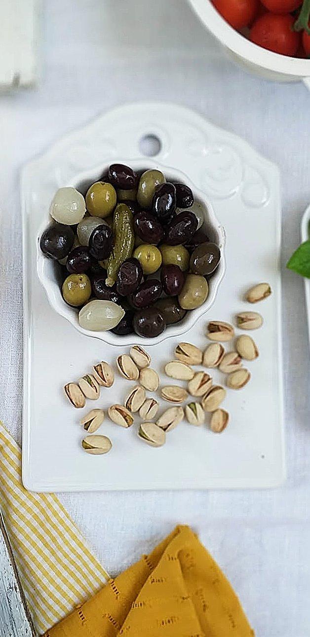 olivas ricas con pistachos