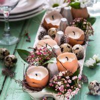 Unas mesas bonitas con huevos para estos días