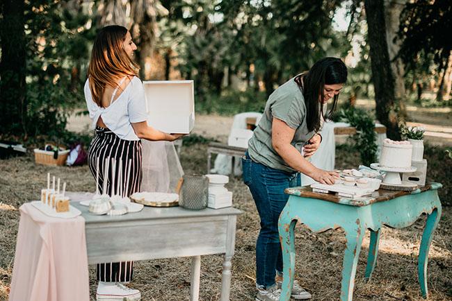 Clelia de Bakery Love_ y Paula de Taula Studio