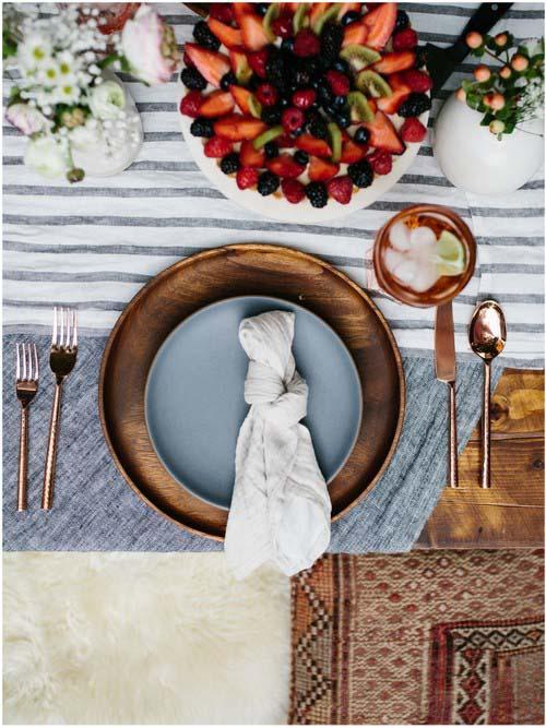 Una mesa bonita y un brunch en el jardín