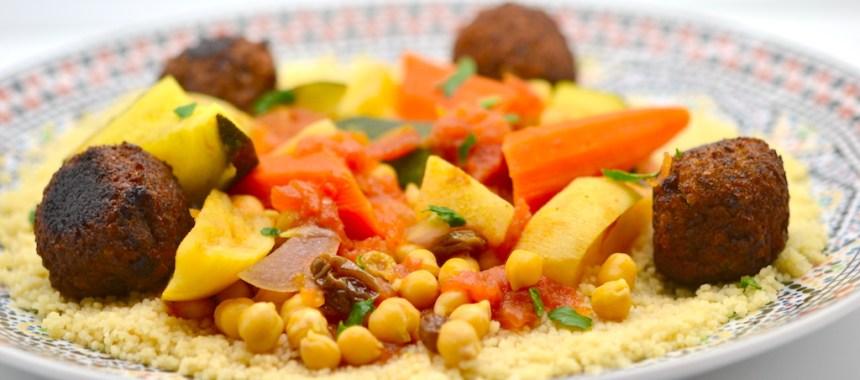 Couscous végétarien, aux falafels