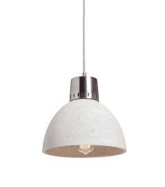 Lampa betonowa KORTA 1 - kolor naturalny - wykończenie stalowe