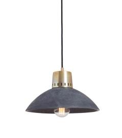 Lampa betonowa KORTA 3 - kolor antracyt - wykończenie mosiężne