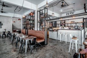 Our new favorite A lovely industrial style cafe in ...