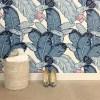 Feuilles De Luxe bleu wallpaper