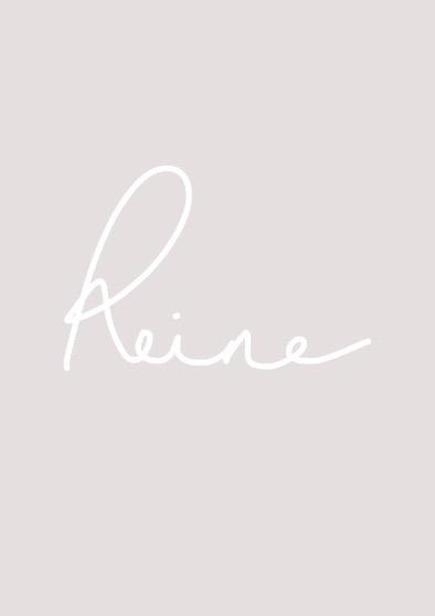 """Reine"" typography art print"