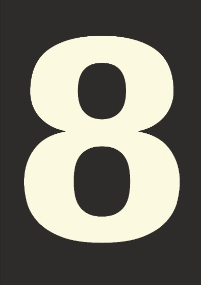 Number 8 Typography Print