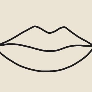 Lips abstract art print