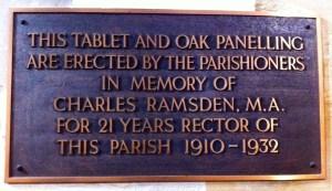 Rector Ramsden's Memorial