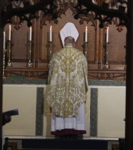 Bishop David Hope begins the Chrism Mass from the High Altar