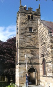 The Central Pole is ascends to the top of St Leonard's Church tower.