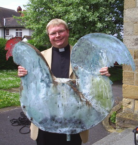 The Rector with the Church Cockerel