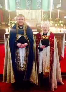 The Rector is joined by the Rector of Skelton-in-Cleveland for Evensong and Benediction on Easter Sunday Evening at Saint Helen's Carlin How