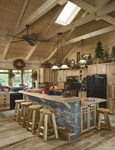 Pictures Of Stone Accents Used In Log Homes   The Log Home ...