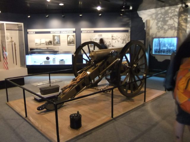 Field gun on display at Shiloh National Battlefield